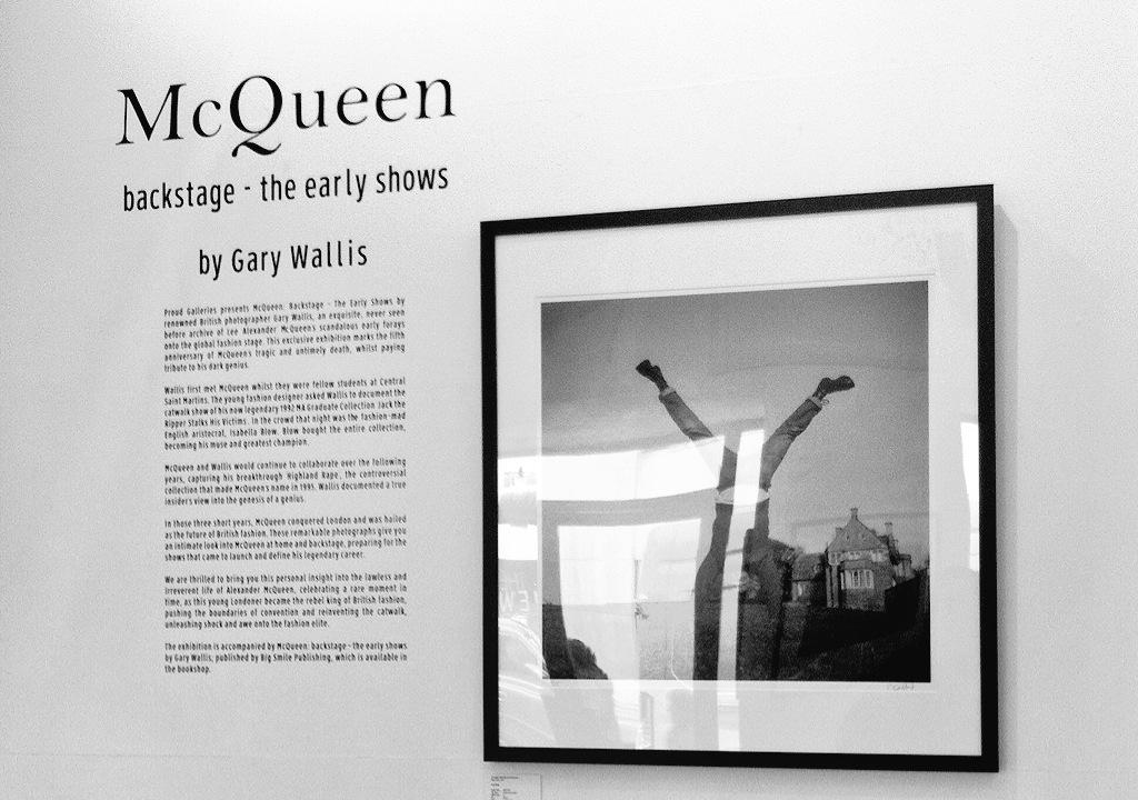 To begin proud chelsea stages a black and white photography exhibition called mcqueen backstage the early shows going behind the scenes of mcqueens